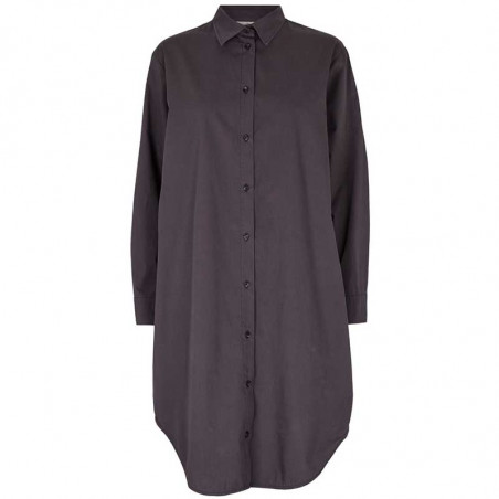 Basic Apparel Kjole, Vilde Loose Shirt Dress, Blackened