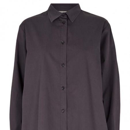 Basic Apparel Kjole, Vilde Loose Shirt Dress, Blackened detalje