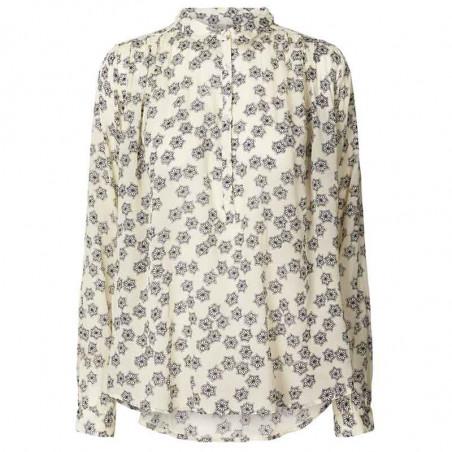 Lollys Laundry Skjorte, Lari, Creme lolly's laundry bluse skjortebluse