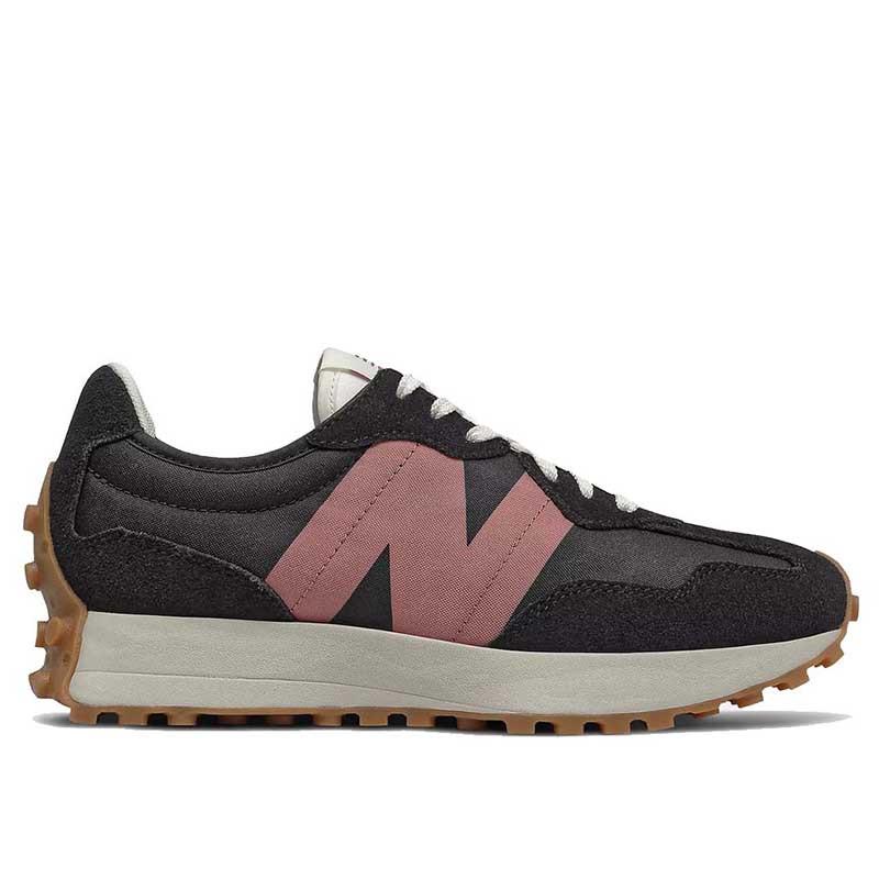 New Balance Sneakers, WS327HR1, Black/Washed Henna, gummisko, sorte sko