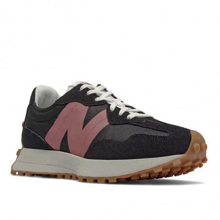 New Balance Sneakers, WS327HR1, Black/Washed Henna, gummisko, sorte sko, detalje
