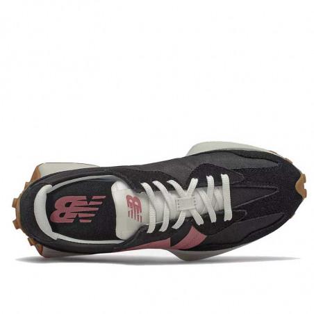 New Balance Sneakers, WS327HR1, Black/Washed Henna, gummisko, sorte sko, oppe fra