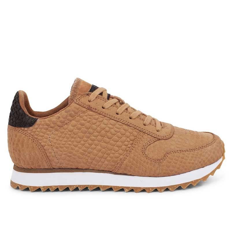 Woden Sneakers, Ydun Croco II, Tan, krokodille, sandfarvede gummisko