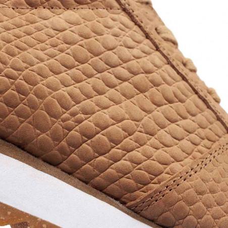 Woden Sneakers, Ydun Croco II, Tan, krokodille, sandfarvede gummisko, detalje