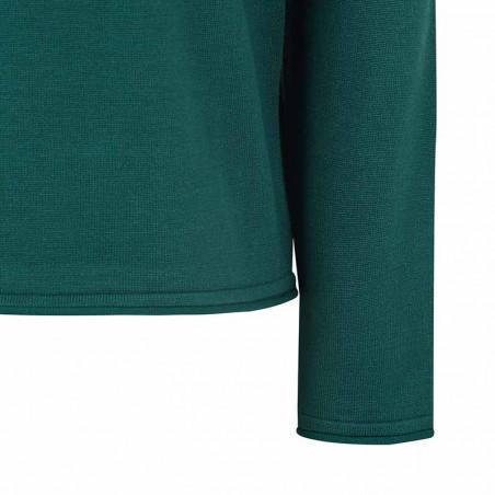 Soft Rebels Bluse, SRMarla O-neck roll edge, Bayberry Strik bluse ærme detalje