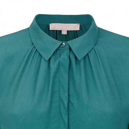 Soft Rebels Kjole, SRAnna, Bayberry grøn Skjortekjole detalje