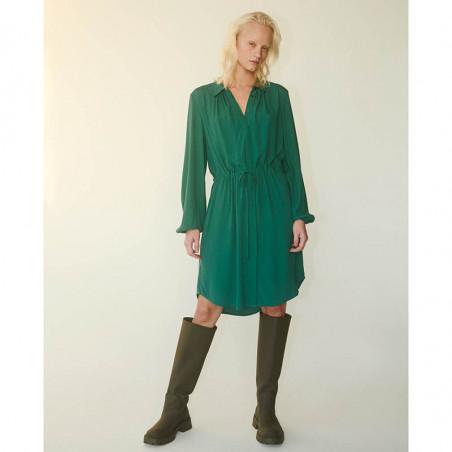 Soft Rebels Kjole, SRAnna, Bayberry grøn Skjortekjole på model