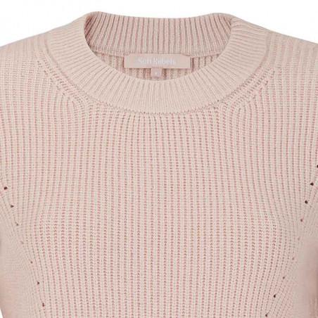 Soft Rebels Strik Bluse, SRJenny LS Knit, Brush Pullover detalje