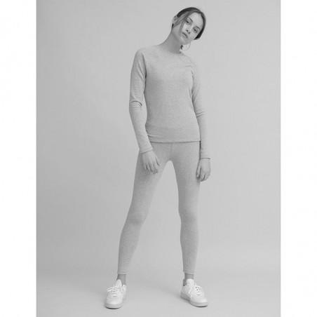 Basic Apparel T-shirt, Ludmilla LS, Rose Dust look