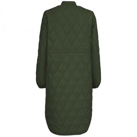 Modström Jakke, Kip, Dark Army, kviltet jakke, quilted, armygrøn, overgangsjakke, frakke