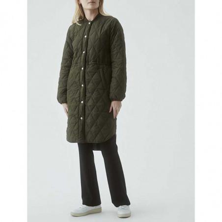 Modström Jakke, Kip, Dark Army, kviltet jakke, quilted, armygrøn, overgangsjakke, efterårsjakke