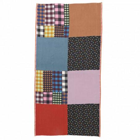 Beck Söndergaard Tørklæde, Nayeli Como Scarf, Multi Color patchwork print