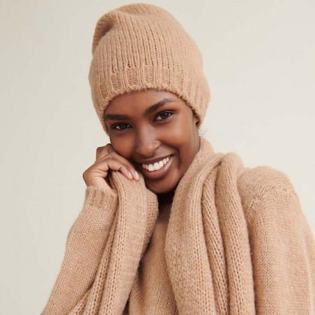 Basic Apparel Halstørklæde, Marnie scarf, Camel Melange detaljebillede