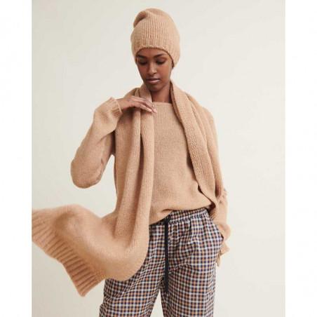 Basic Apparel Halstørklæde, Marnie scarf, Camel Melange look