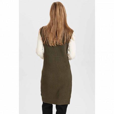 Nümph Kjole, Nuchaya Dress, Grape Leaf numph strik kjole vest på model set bagfra