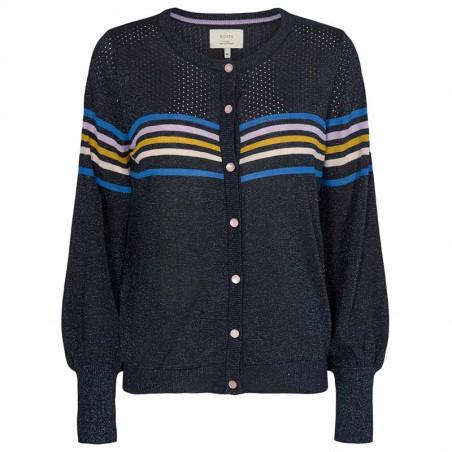 Nümph Cardigan, Nucarwen, Dark Sapphire numph strik trøje med glimmer