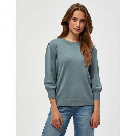 Minus Bluse, Mersin, Blue Zen Melange Minus tøj Minus strik bluse på model