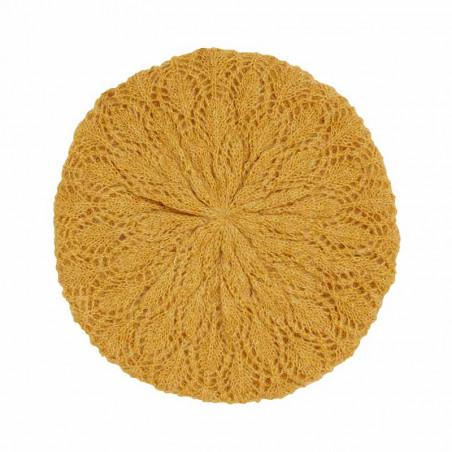 King Louie Hat, Ophelia, Harvest Yellow King louie strikket beret