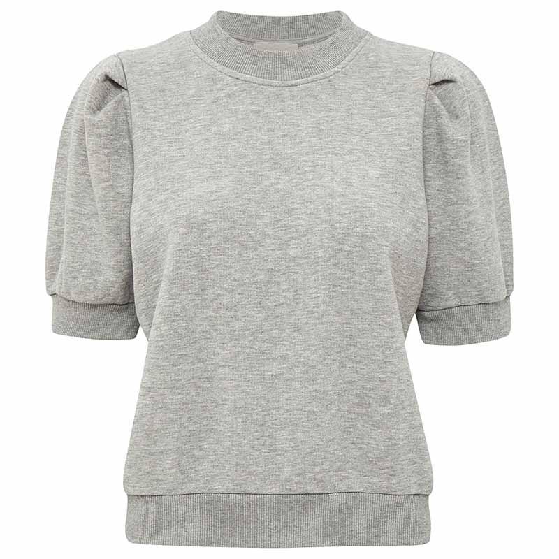 Minus Bluse, Mika Sweat, Light Grey Melange Minus sweat top