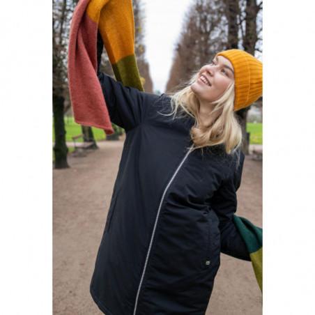 Danefæ Vinterjakke, Tove, Black Danefæ overtøj Vinterovertøj regntæt jakke på model