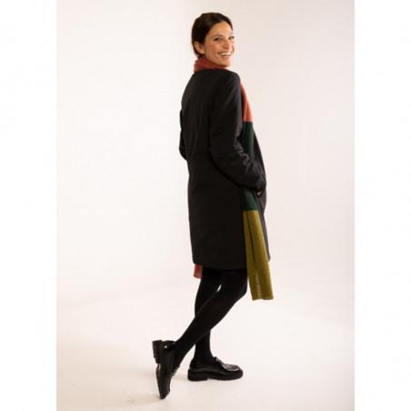 Danefæ Vinterjakke, Tove, Black Danefæ overtøj Vinterovertøj regntæt jakke på model set bagfra