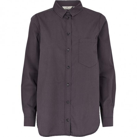 Basic Apparel Skjorte, Vilde Loose, Blackened pearl, oversize skjorte, sort, damemode