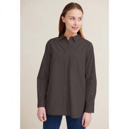 Basic Apparel Skjorte, Vilde Loose, Blackened pearl, oversize skjorte, sort, damemode, model