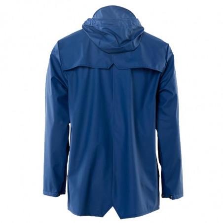 Rains Regnjakke, Kort, Klein Blue, rainjacket, vandafvisende, regntøj, detalje