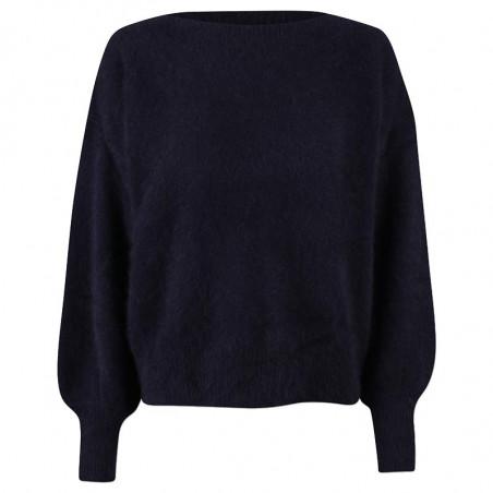 Six Ames Strik, Malou, Black, sweater, vaskebjørn, sort strikket sweater