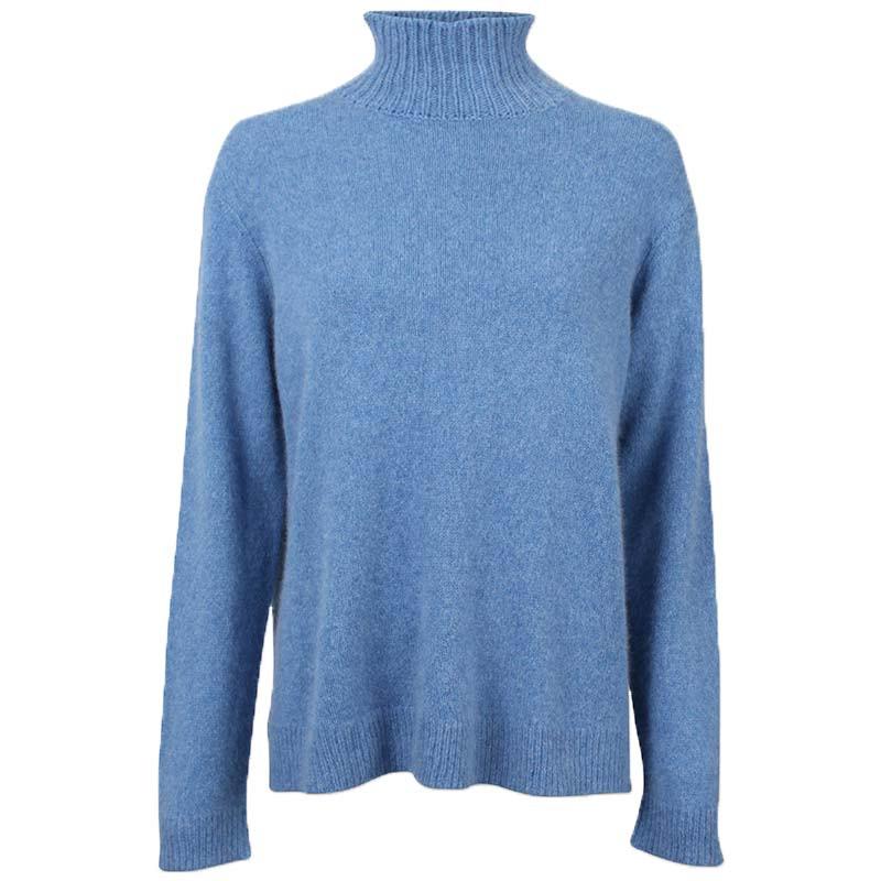 Six Ames Strik, Jade, Regatta, sweater, rullekrave, høv krave, dropped shoulders