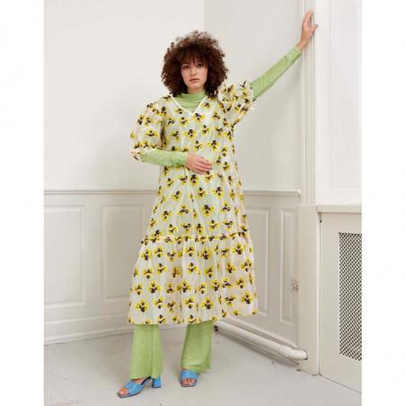Hunkøn Kjole, Bellua, Yellow Hunkøn Dress på model