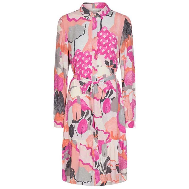 Nümph Kjole, Nucicely Dress, Rose Violet Numph kjole skjortekjole