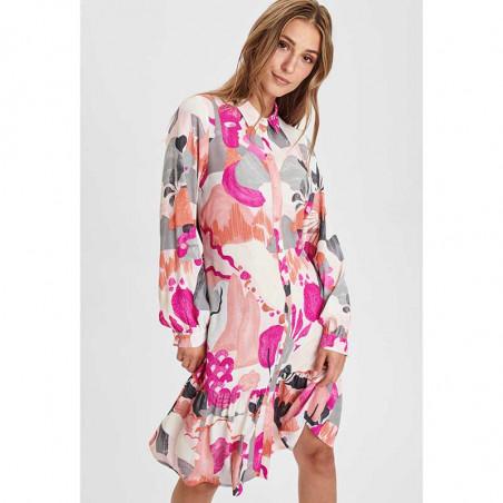 Nümph Kjole, Nucicely Dress, Rose Violet Numph kjole skjortekjole med flot print