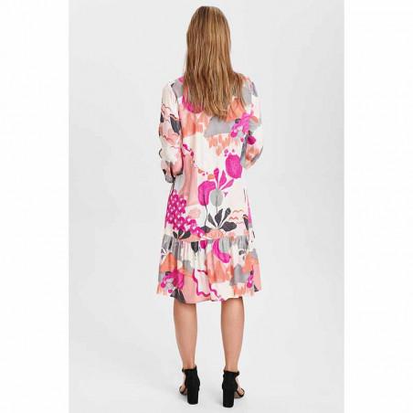 Nümph Kjole, Nucicely Dress, Rose Violet Numph kjole skjortekjole set bagfra