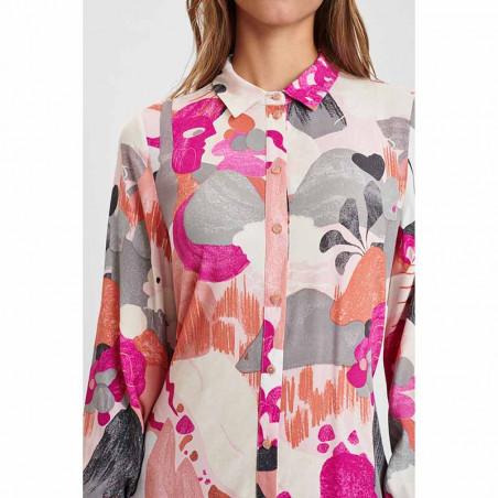 Nümph Kjole, Nucicely Dress, Rose Violet Numph kjole skjortekjole detalje