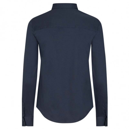 Mos Mosh Skjorte, Tina Jersey, Night Blue Mosmosh Basic jersey skjorte ryg