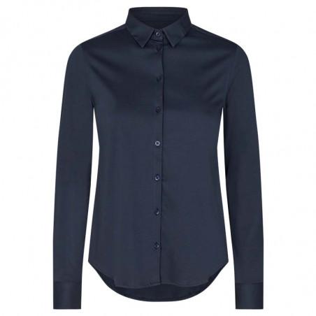 Mos Mosh Skjorte, Tina Jersey, Night Blue Basic jersey skjorte Mosmosh