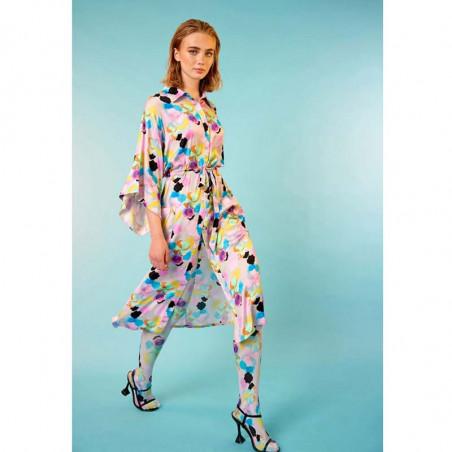 Hunkøn Kimono, Caya, Candy Clouds Print Hunkøn leggings