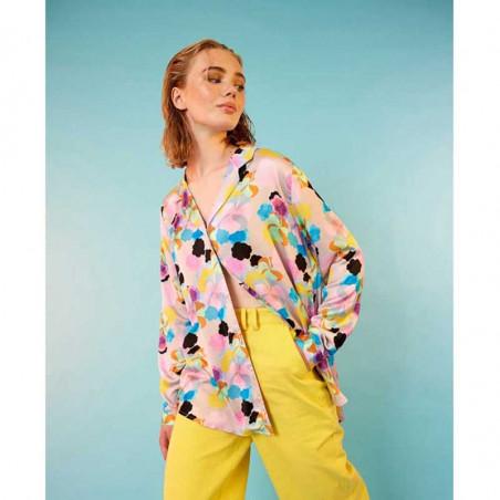 Hunkøn Skjorte, Candy Clouds Shirt, Candy Clouds Print på model