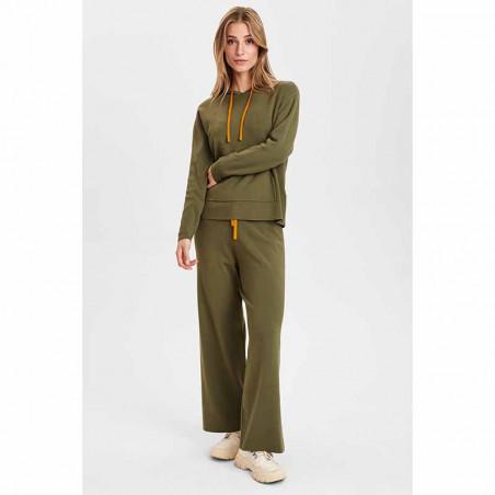 Nümph Bukser, Numalone Knit Pants, Grape Leaf Numph strik bukser look med bluse