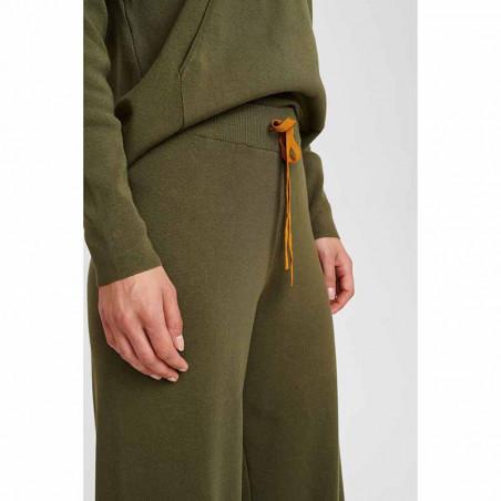 Nümph Bukser, Numalone Knit Pants, Grape Leaf Numph strik bukser detalje