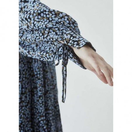 Modström Kjole, Menna Print Dress, Forest Fleur modstrøm kjole detalje