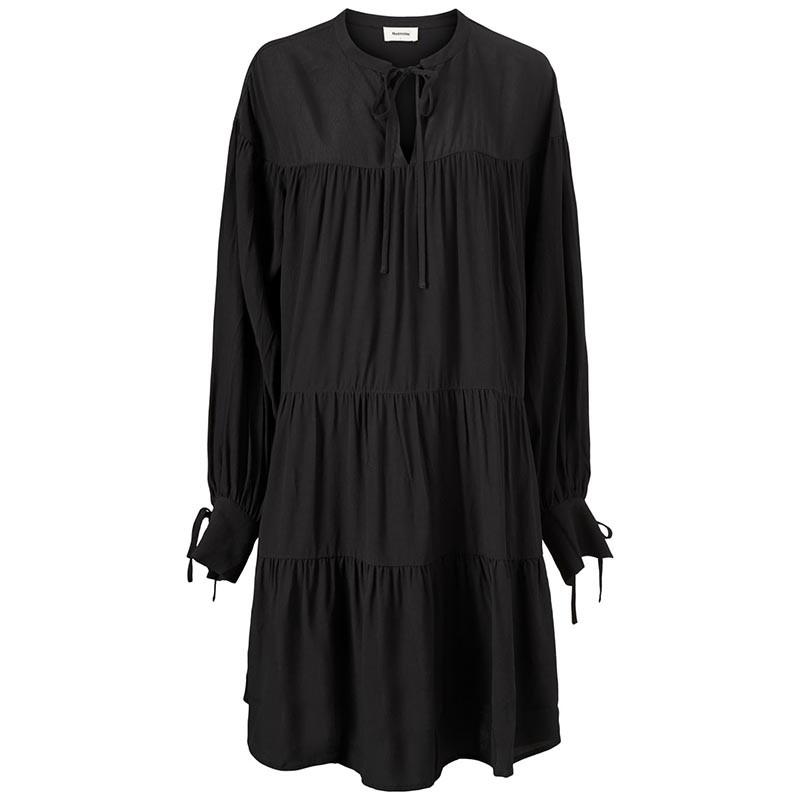 Modström Kjole, Menna Dress, Black Modstrøm kjole