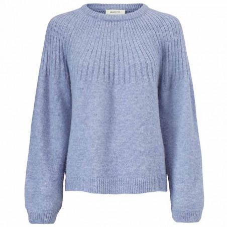 Modström Strik, Truce O-neck, Country Blue Modstrøm sweater - strik pullover