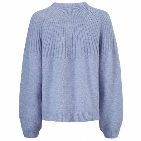 Modström Strik, Truce O-neck, Country Blue Modstrøm sweater - strik pullover ryg