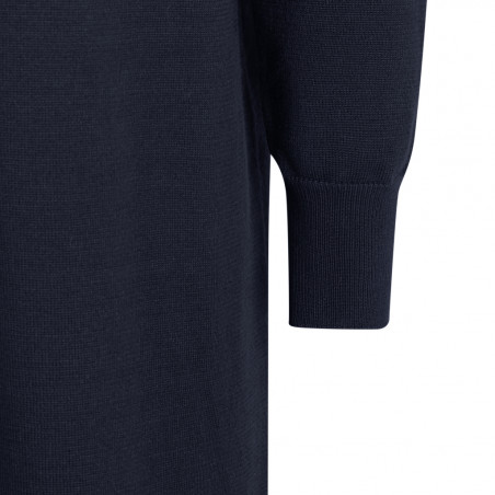 Soft Rebels Kjole, SRLea v-neck Dress, Total Eclipse Strikkjole ærme detalje