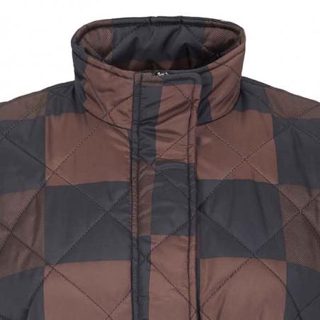 Soft Rebels Vest, SRSigrid Vest, Big Square Chocolate Quilted vest detalje