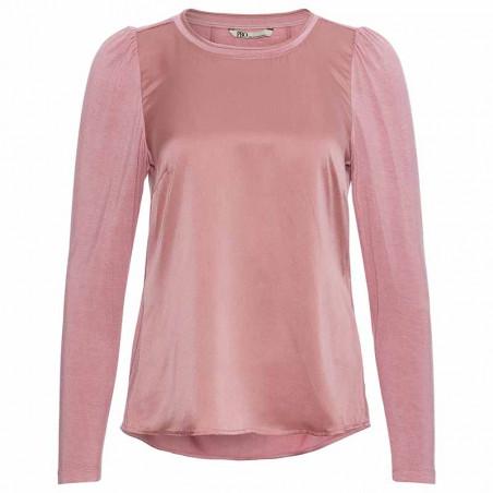 PBO Bluse, Mufti, Brandied Apricot, silkebluse, silketop, lyserød