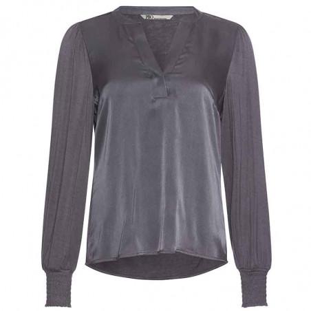 PBO Bluse, Pollipop, Castlerock, silkebluse, silketop, jerseybluse, viskosejersey