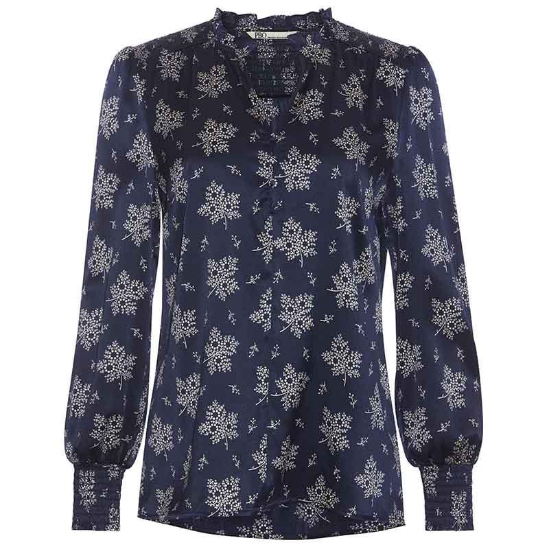 PBO Bluse, Luhan, Blue Irish, silkebluse, silkeskjorte